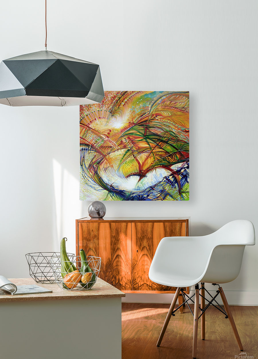 Feathers of the Phoenix  HD Metal print with Floating Frame on Back
