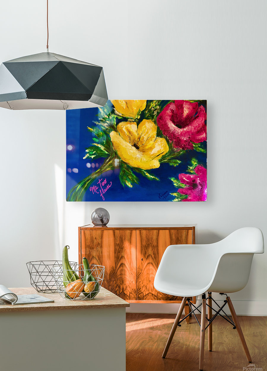 Me Too Fleurs  HD Metal print with Floating Frame on Back