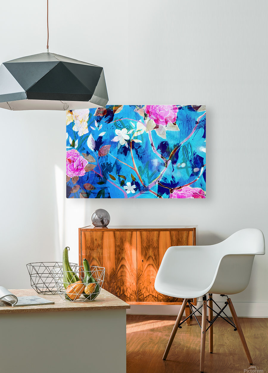 Full Bloom  HD Metal print with Floating Frame on Back
