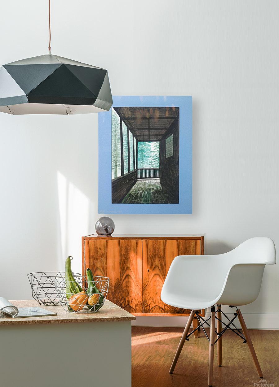 Guest House_DKS  Impression métal HD avec cadre flottant sur le dos