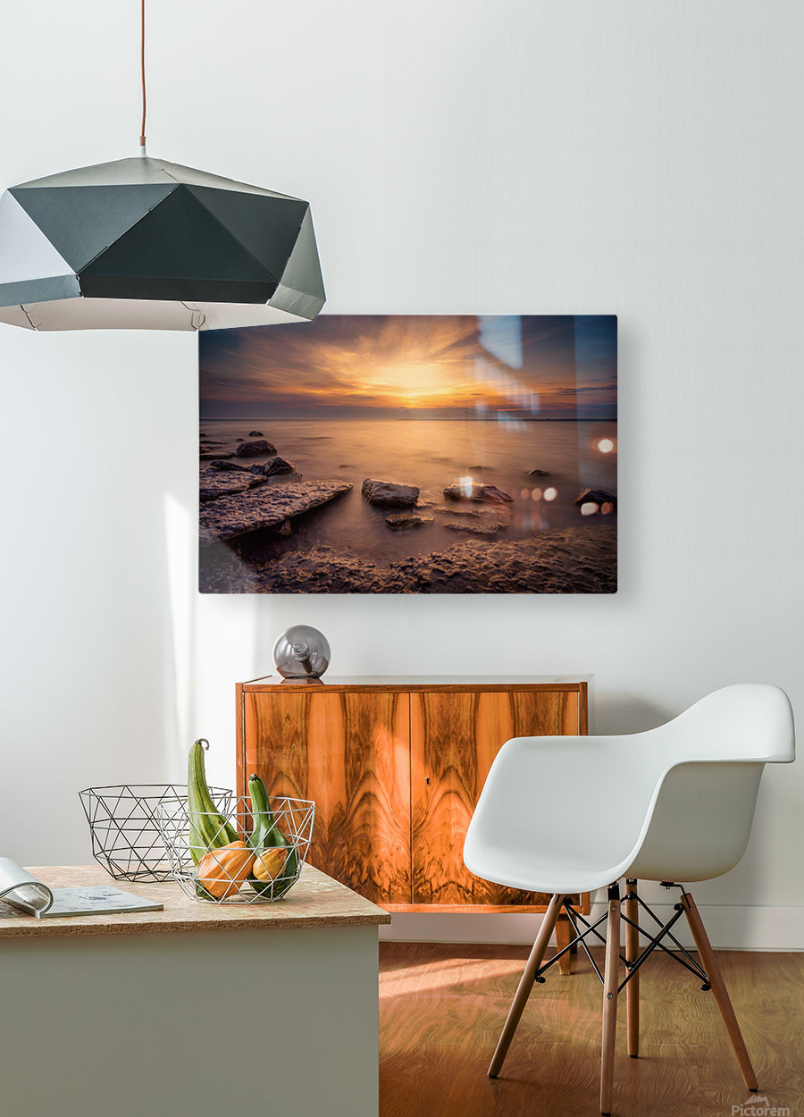 Point Petre Sunset  HD Metal print with Floating Frame on Back