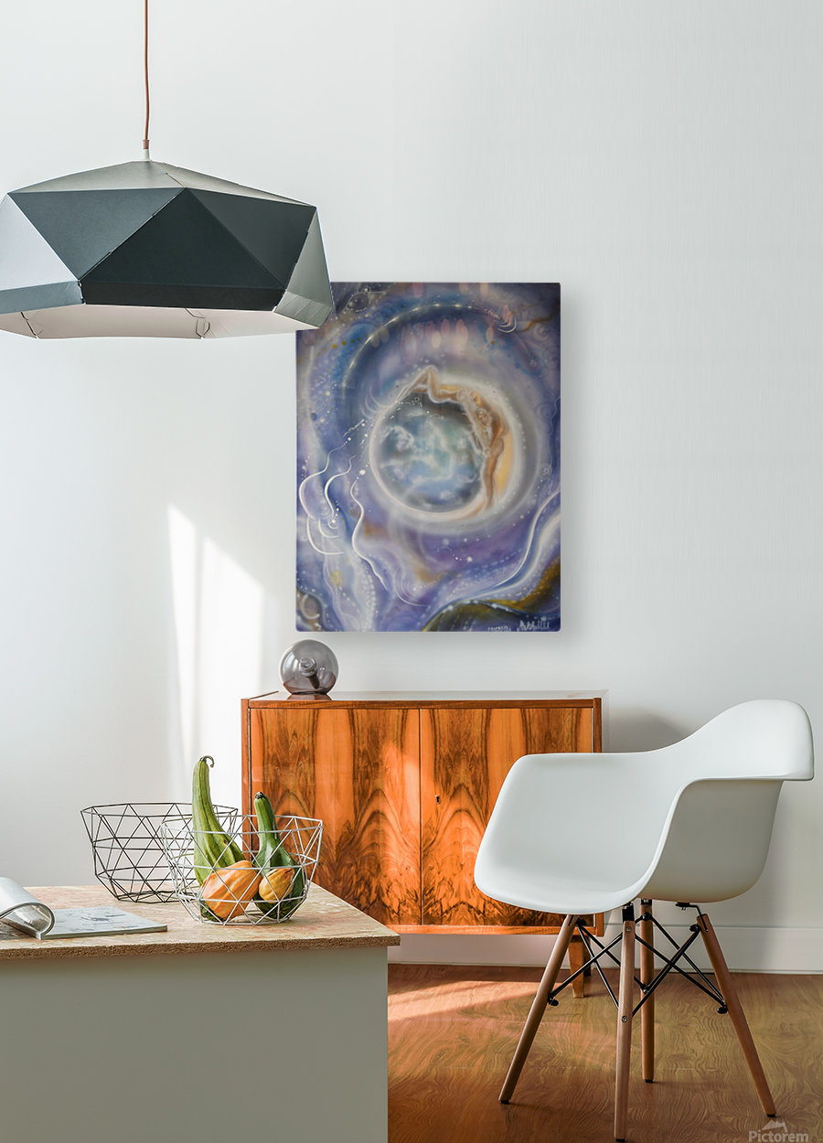 Night  HD Metal print with Floating Frame on Back