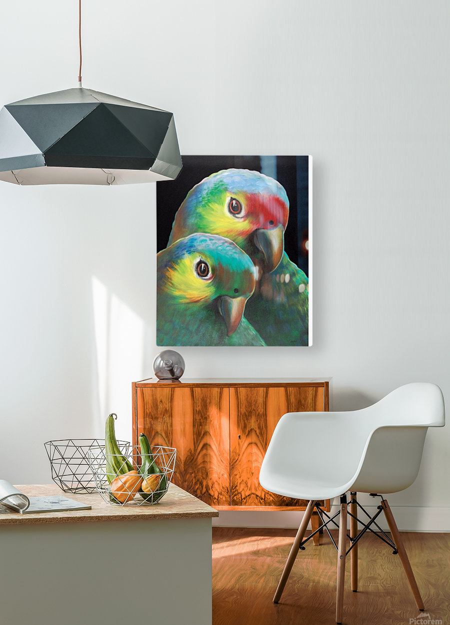 Sam and awesam  HD Metal print with Floating Frame on Back