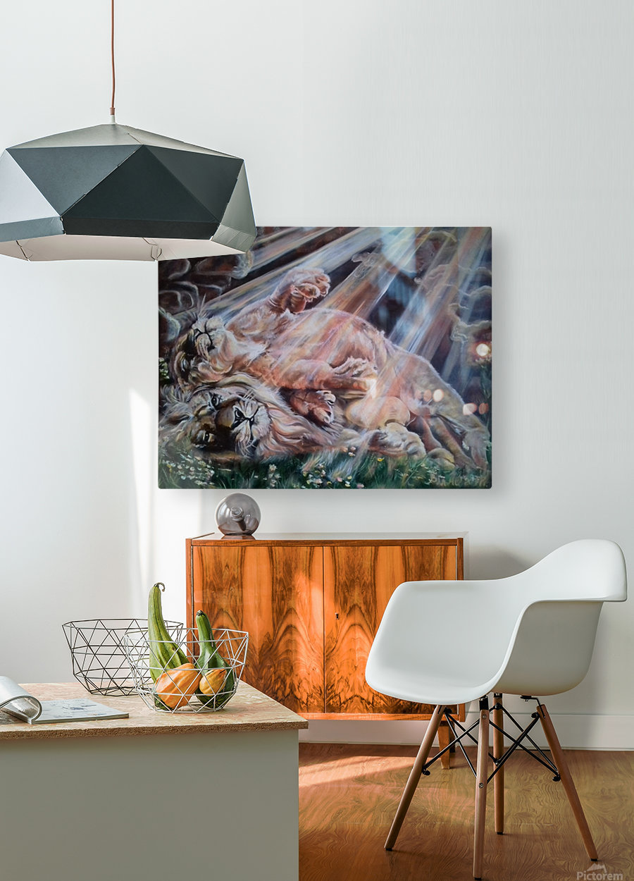 Leos. Happiness.   HD Metal print with Floating Frame on Back