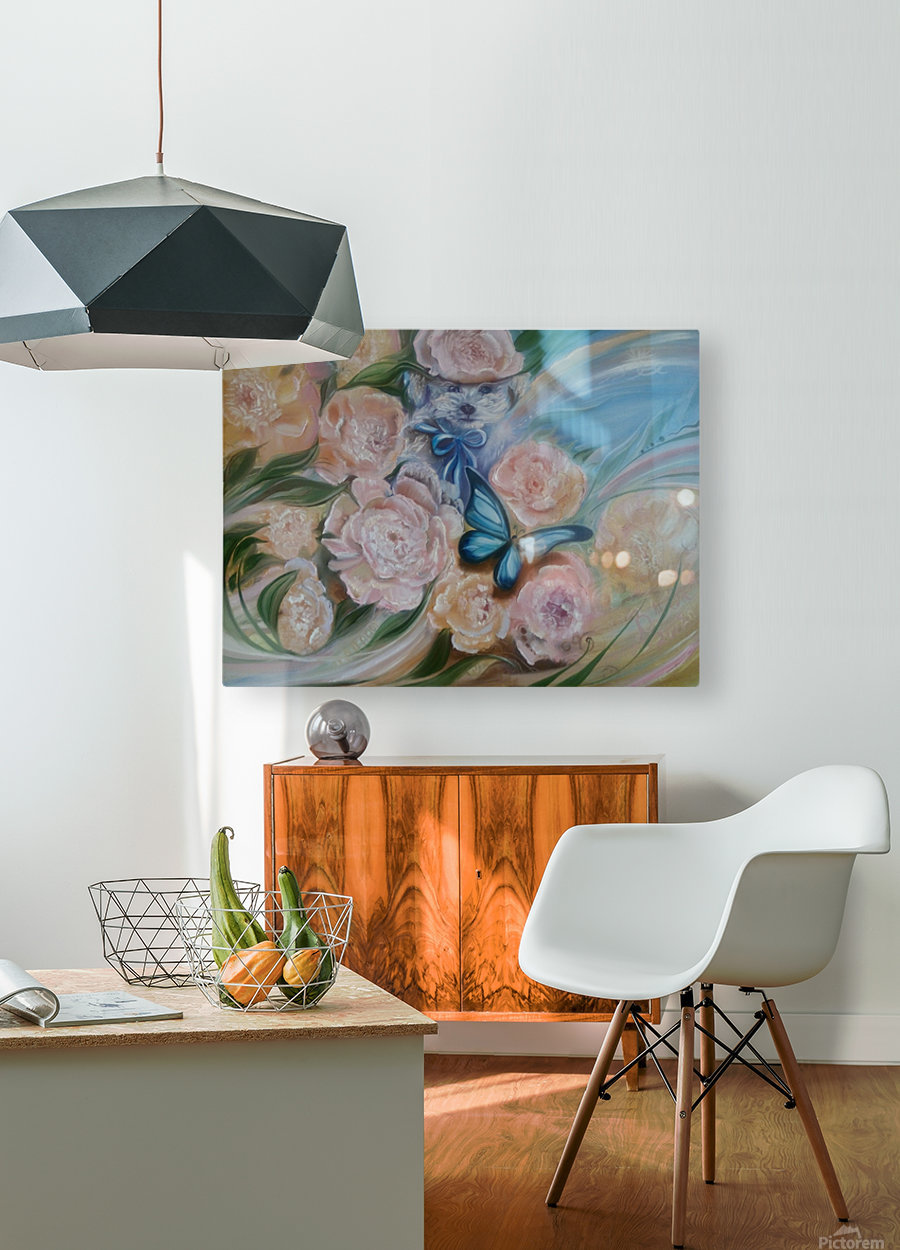 Flowers. Miracle.  HD Metal print with Floating Frame on Back