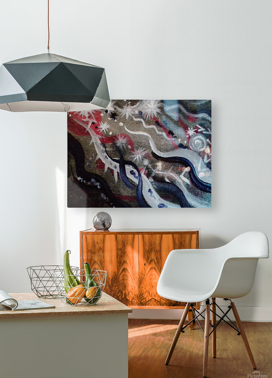 Shungite.Epiphany4.  HD Metal print with Floating Frame on Back