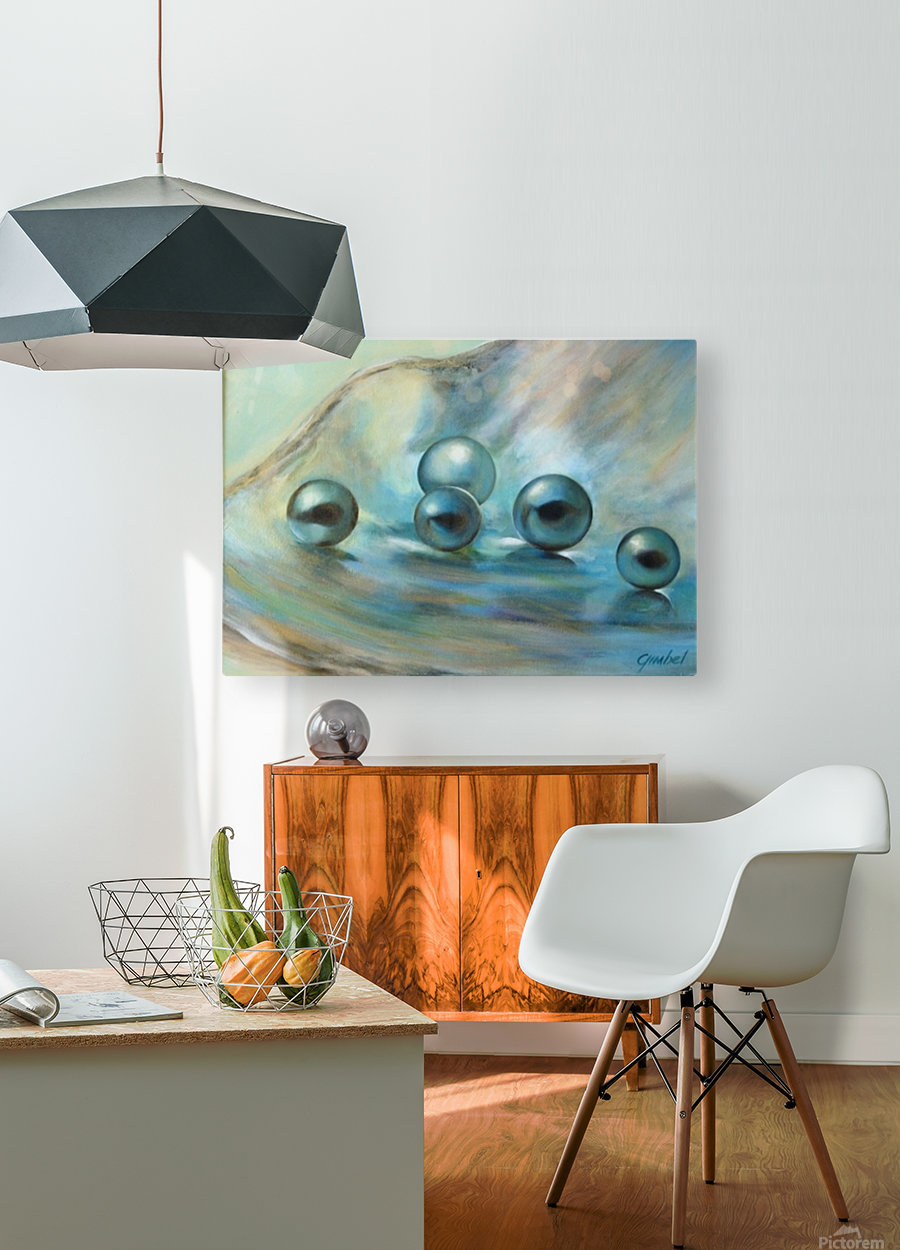 Black Pearls  HD Metal print with Floating Frame on Back