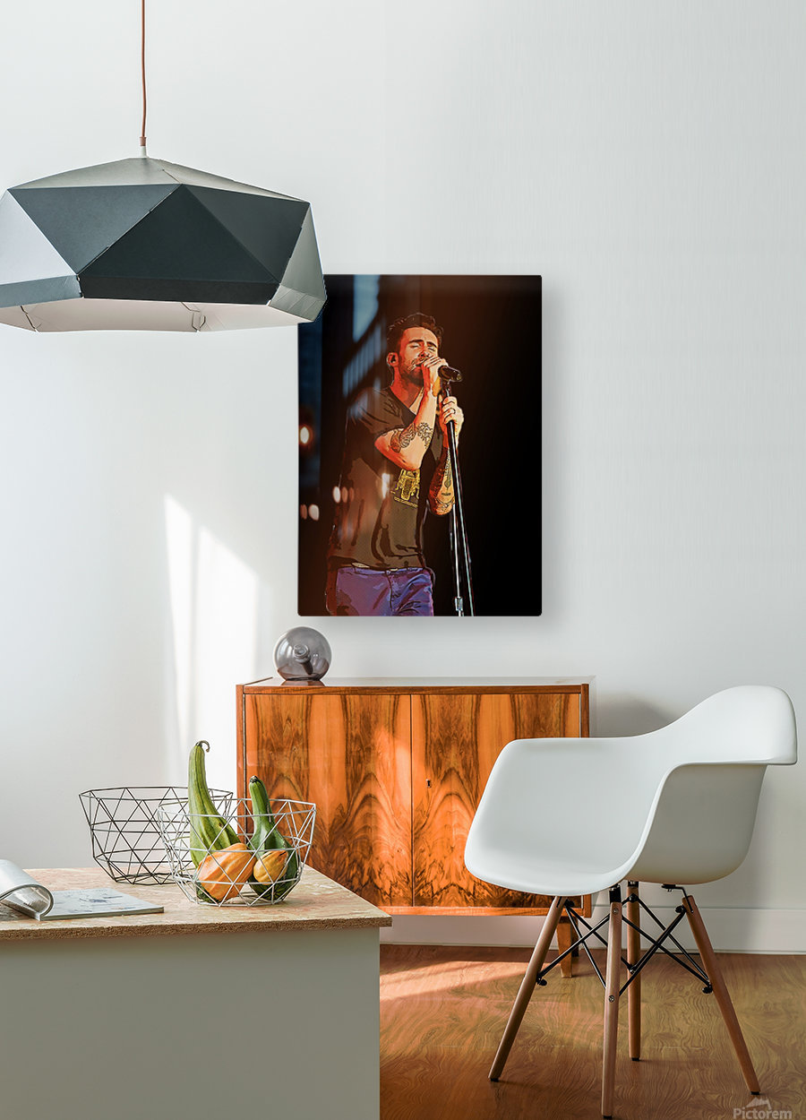 Adam Levine and Maroon 5 performed at The Forum in Inglewood Calif     HD Metal print with Floating Frame on Back