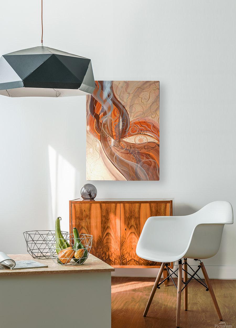 Smoke  HD Metal print with Floating Frame on Back