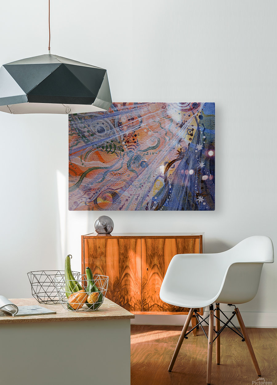 Co-creation  HD Metal print with Floating Frame on Back