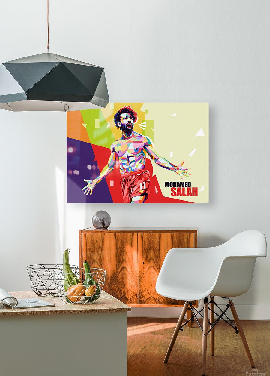 Mohamed salah  HD Metal print with Floating Frame on Back