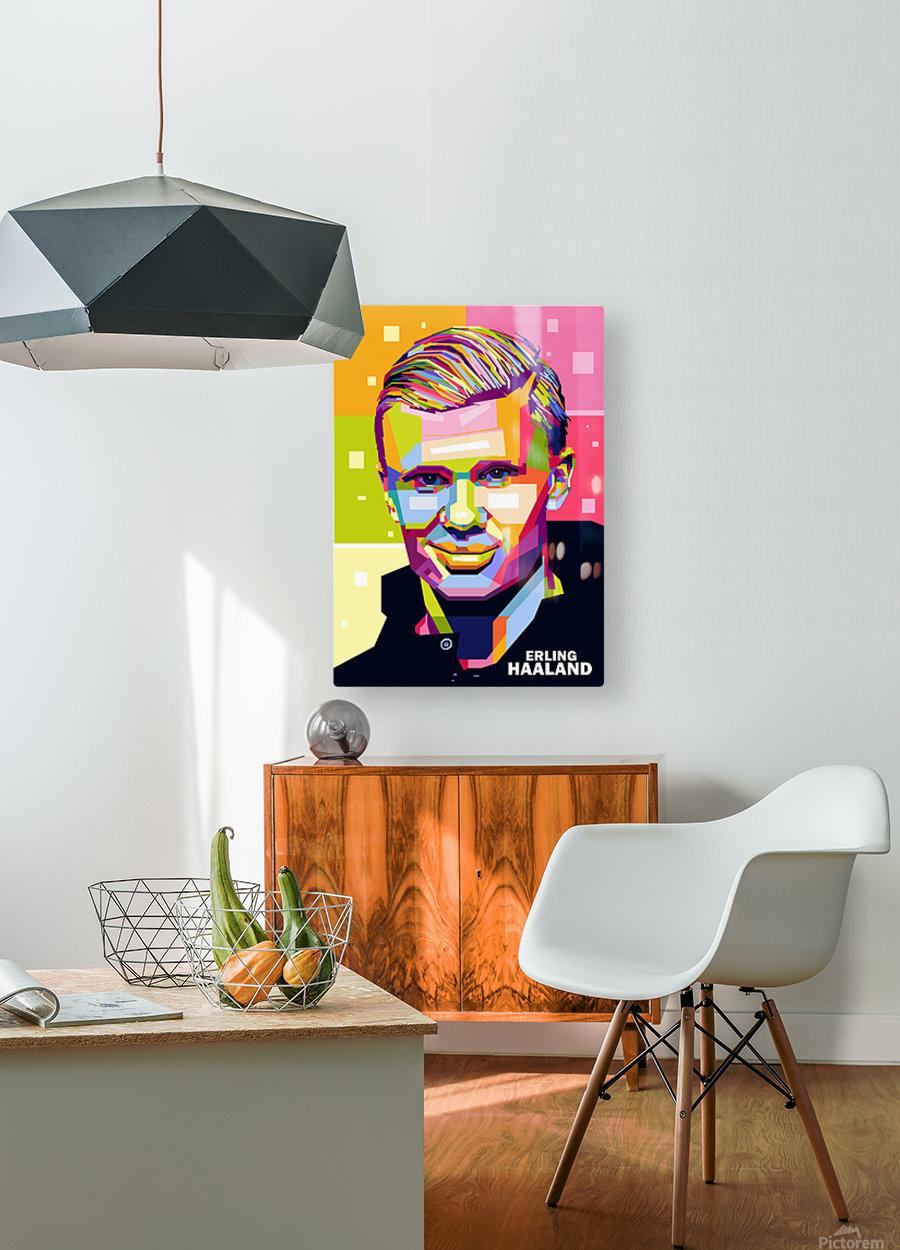 Erling haaland  HD Metal print with Floating Frame on Back