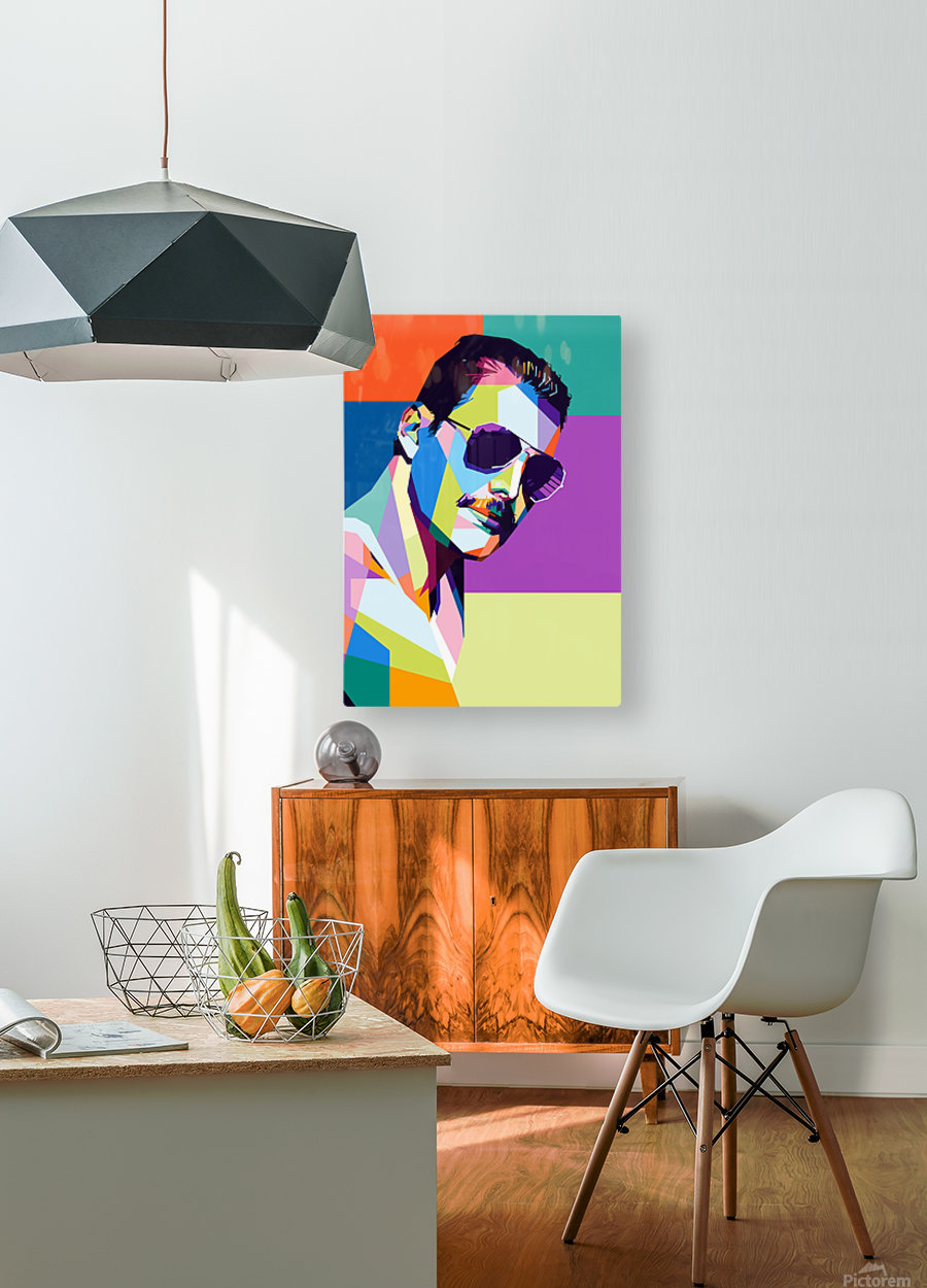 freddie mercury  HD Metal print with Floating Frame on Back
