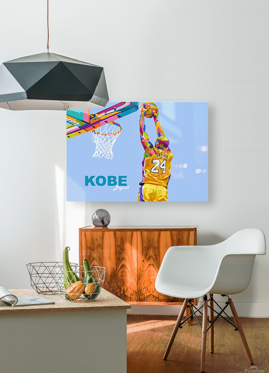 kobe bryant  HD Metal print with Floating Frame on Back