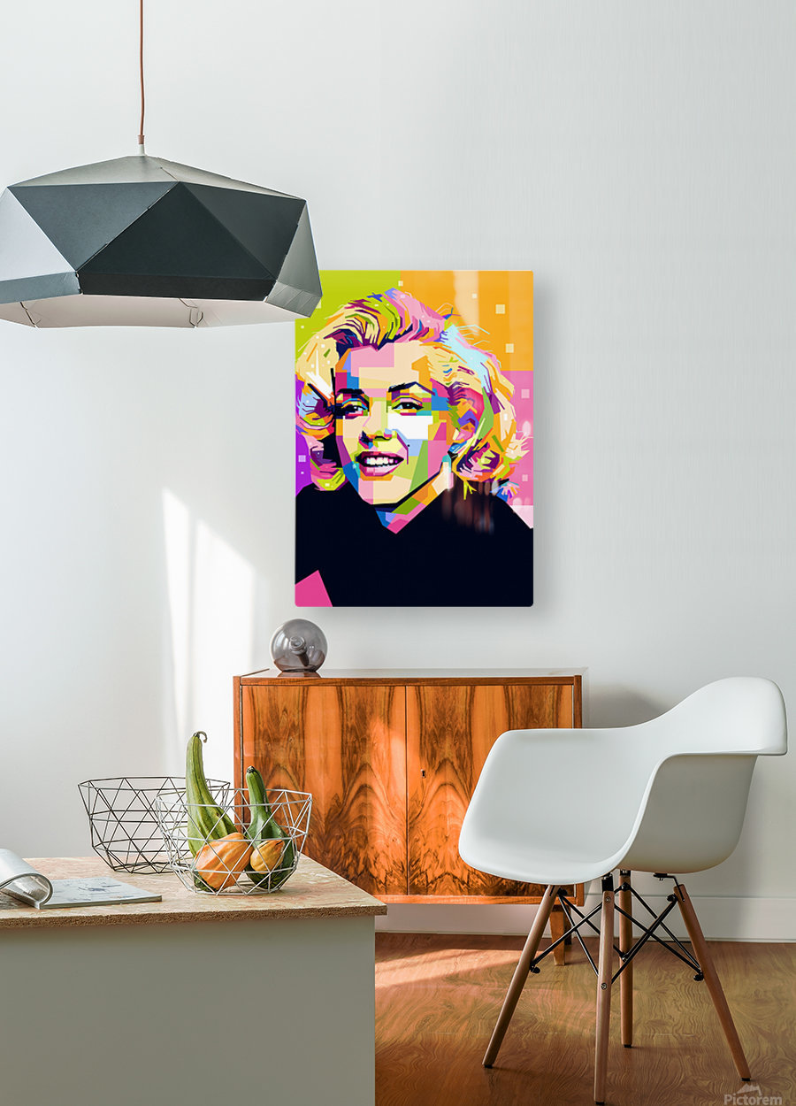Marilyn Monroe  HD Metal print with Floating Frame on Back