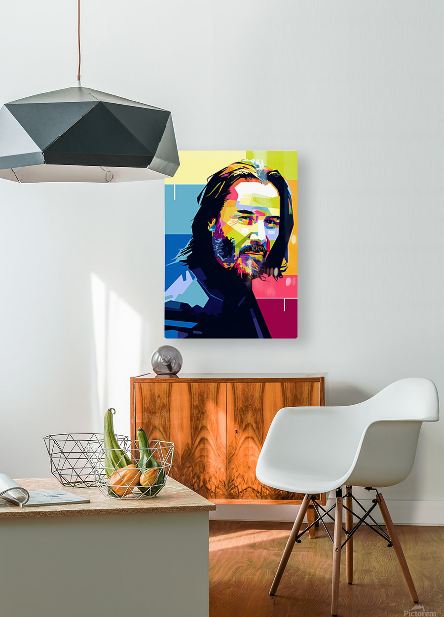 john wick  HD Metal print with Floating Frame on Back