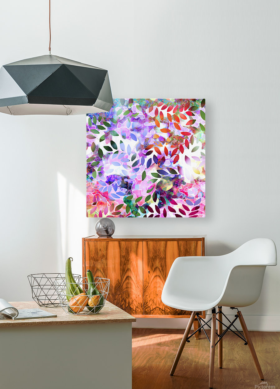 Dancing Leaves  HD Metal print with Floating Frame on Back