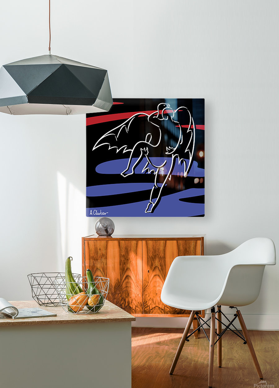 Abduction of Ganymede  HD Metal print with Floating Frame on Back