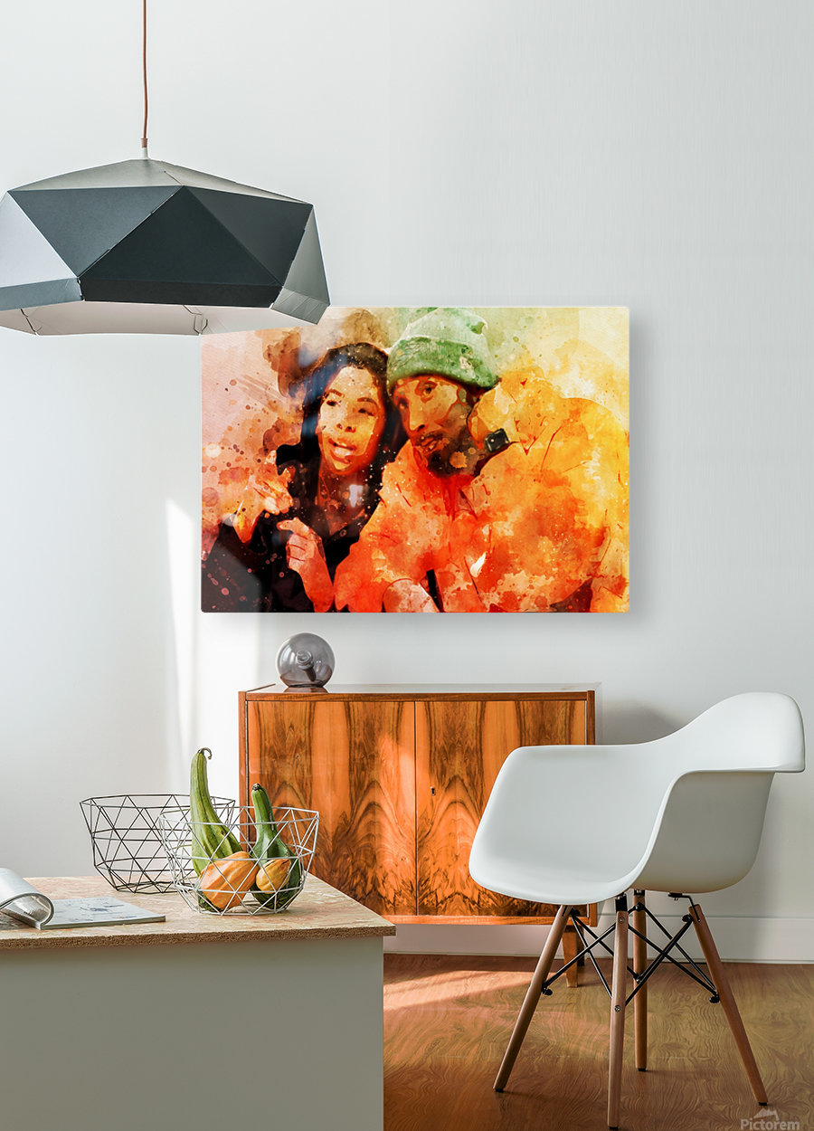 kobe and gianna bryant  HD Metal print with Floating Frame on Back