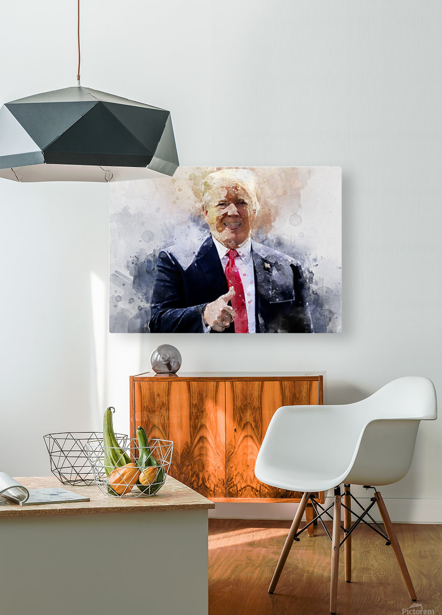Donald trump  HD Metal print with Floating Frame on Back