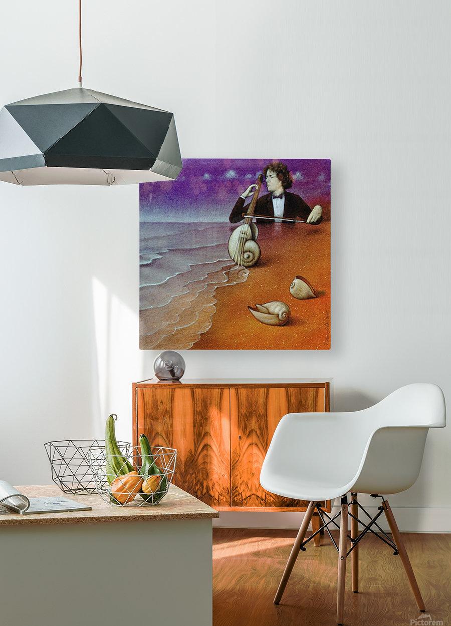 Violin inspiration  HD Metal print with Floating Frame on Back