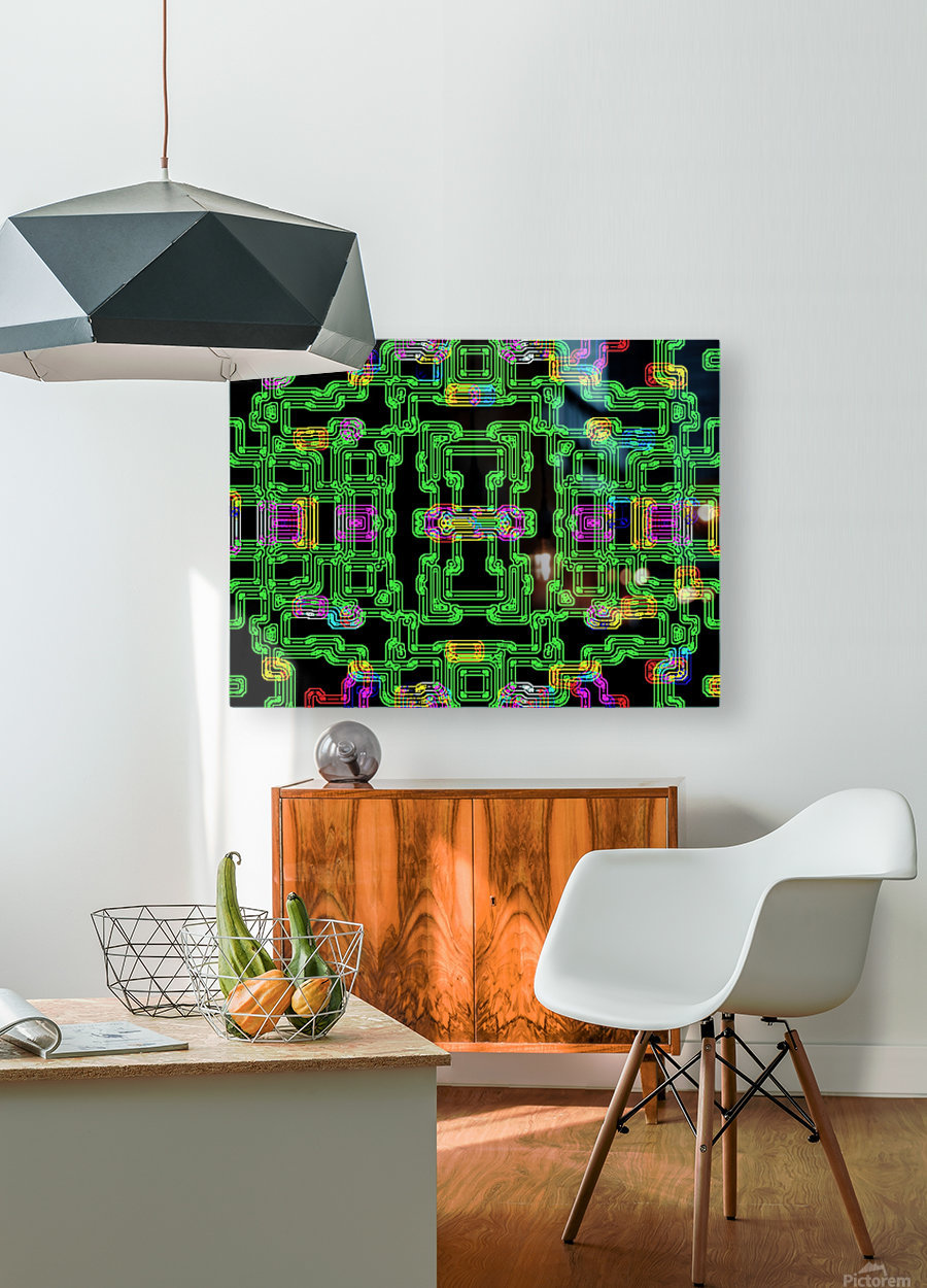 Colorful PIPES  HD Metal print with Floating Frame on Back