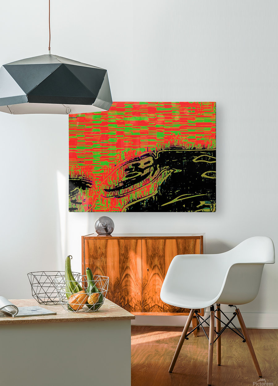 The Bull of his Mother  HD Metal print with Floating Frame on Back