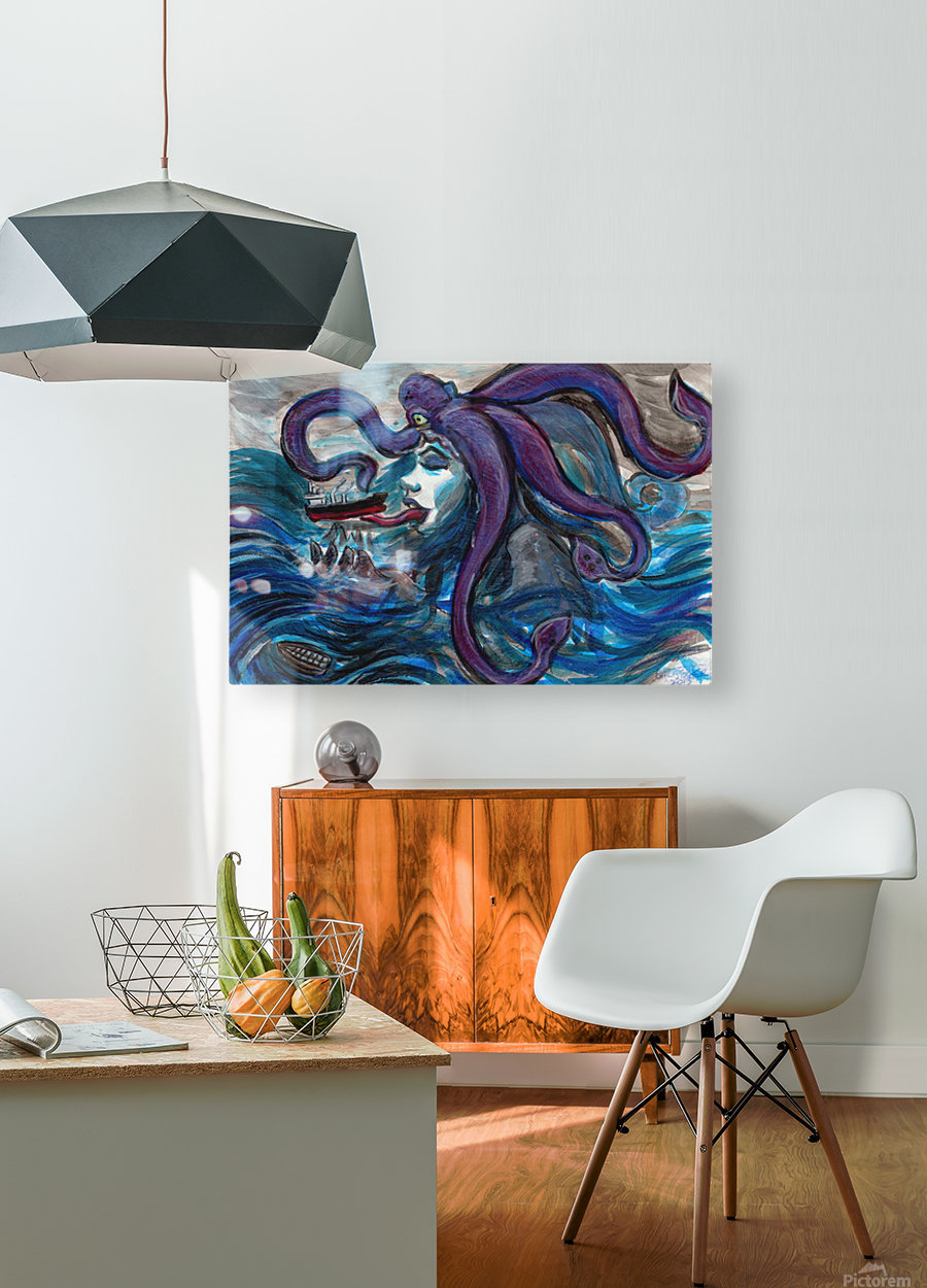 Sea Monster, 1  HD Metal print with Floating Frame on Back