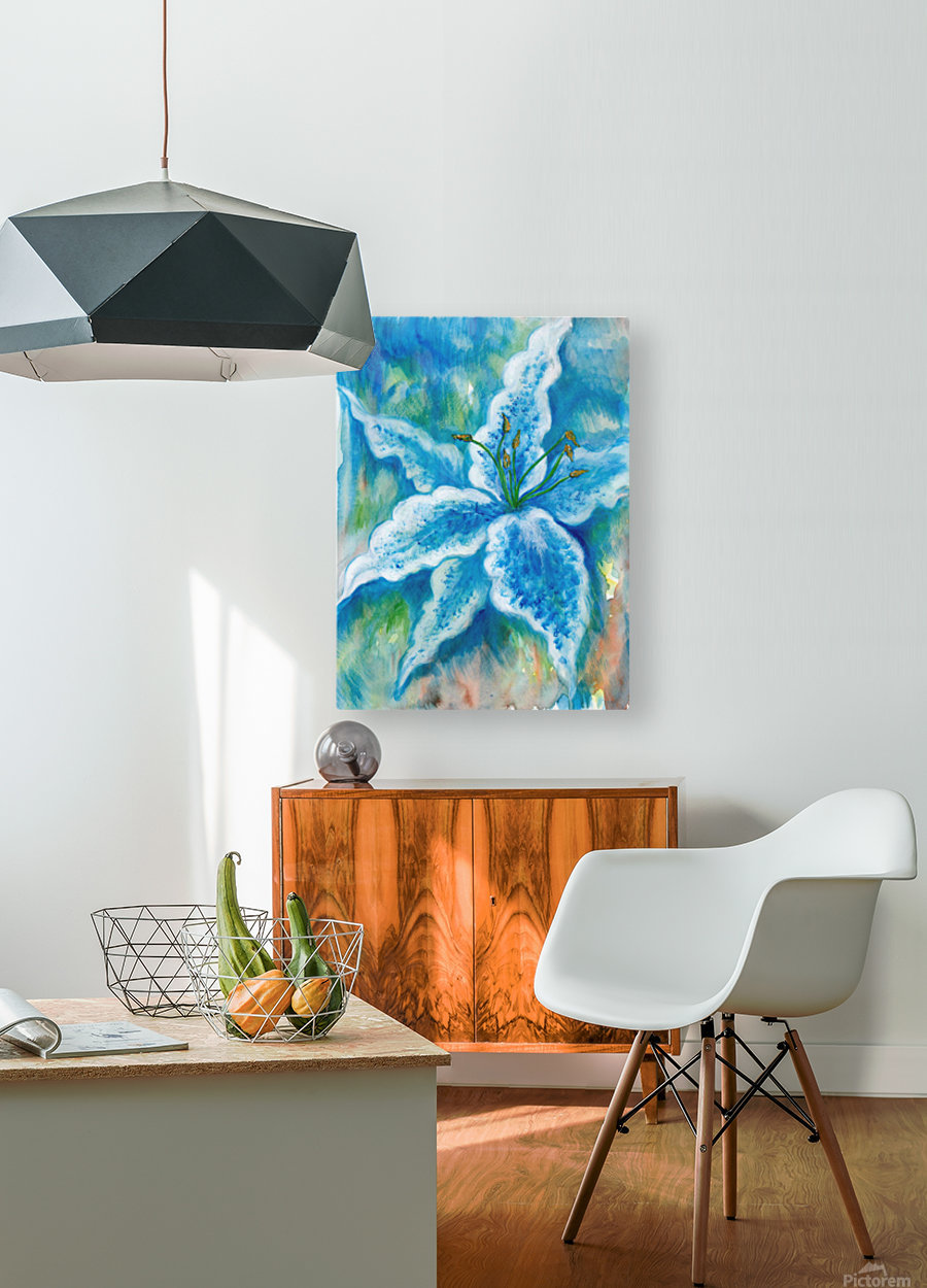 Blue Lily  HD Metal print with Floating Frame on Back