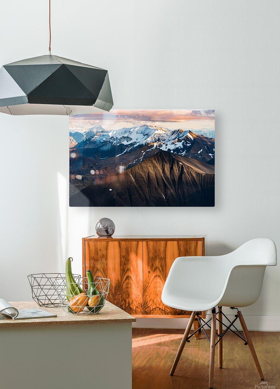 Alaskan Mountains  HD Metal print with Floating Frame on Back