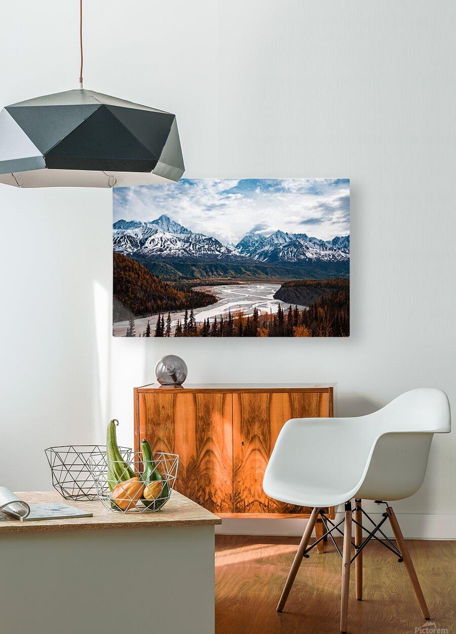 Autumn Landscape  Impression métal HD avec cadre flottant sur le dos