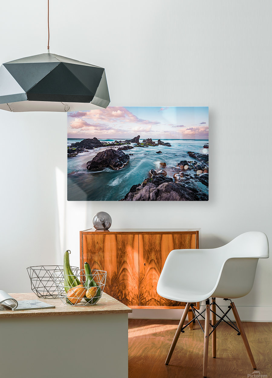 Pastel Waters  HD Metal print with Floating Frame on Back