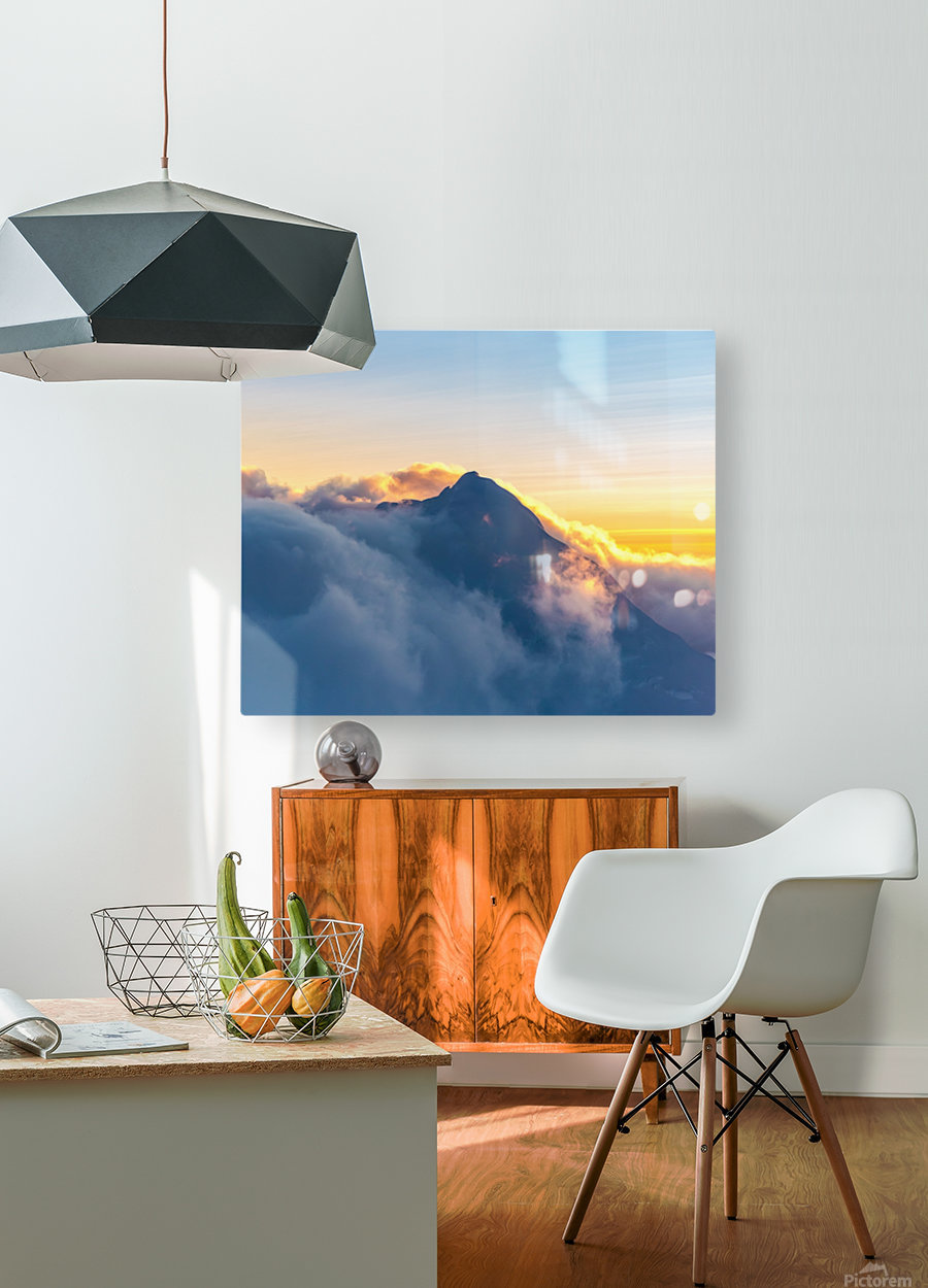 Alpine Glow  HD Metal print with Floating Frame on Back