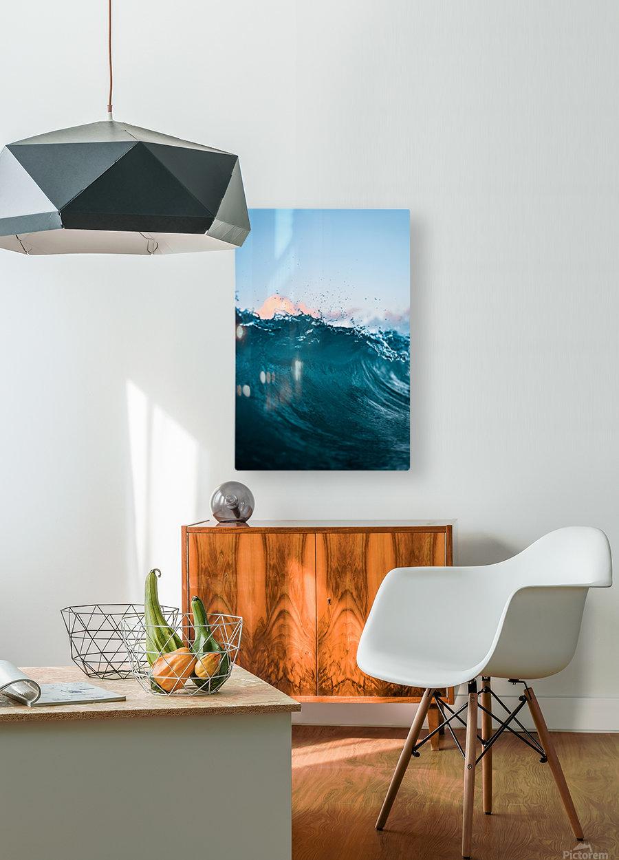 Crest  HD Metal print with Floating Frame on Back