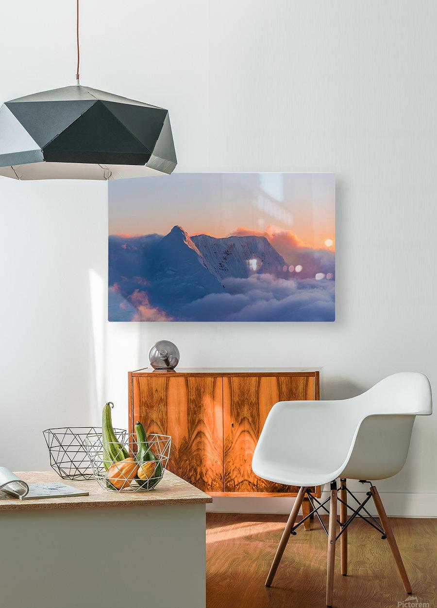 Pastel Peak  HD Metal print with Floating Frame on Back