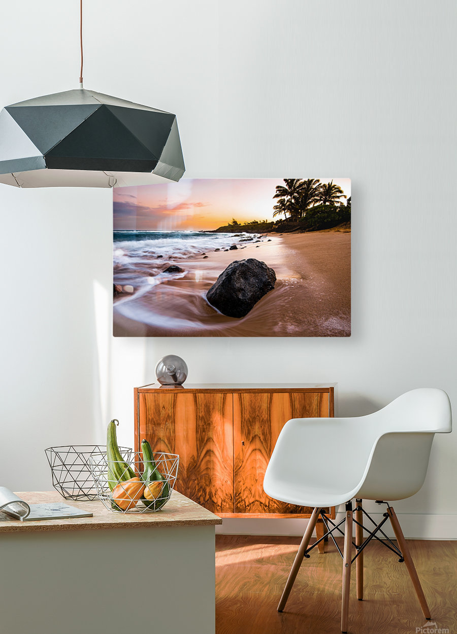 Smooth Shore  HD Metal print with Floating Frame on Back