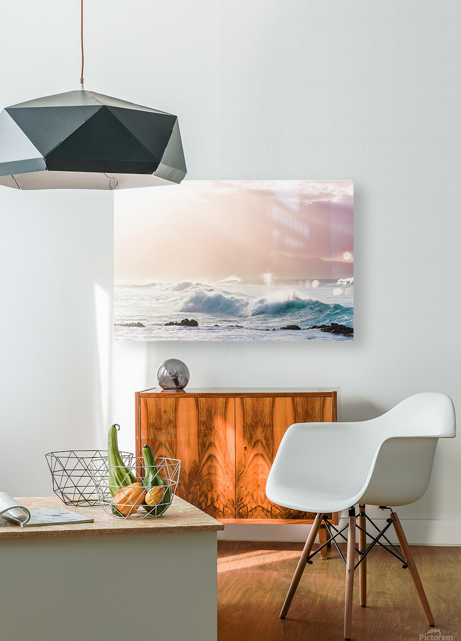 Light Waves  HD Metal print with Floating Frame on Back
