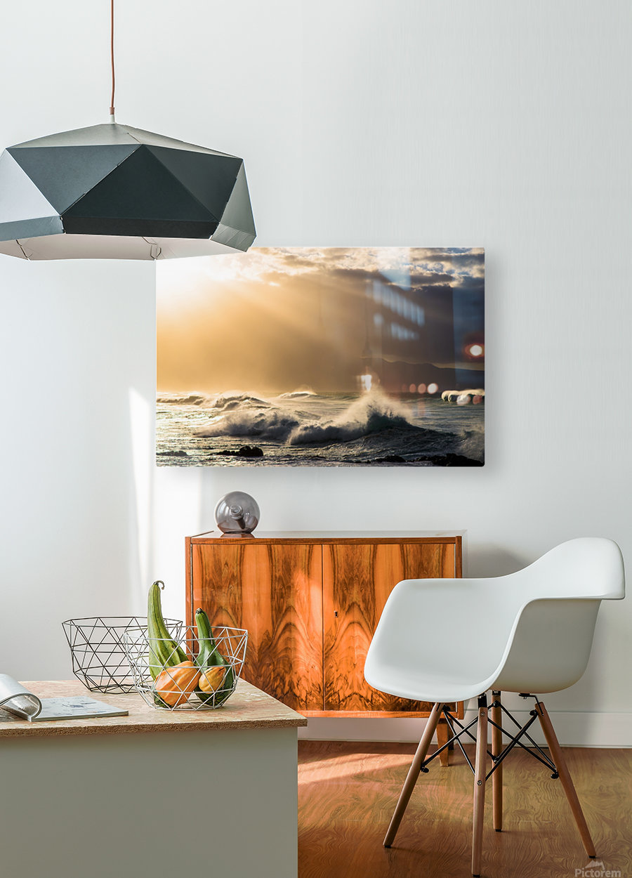 Light in Darkness  HD Metal print with Floating Frame on Back