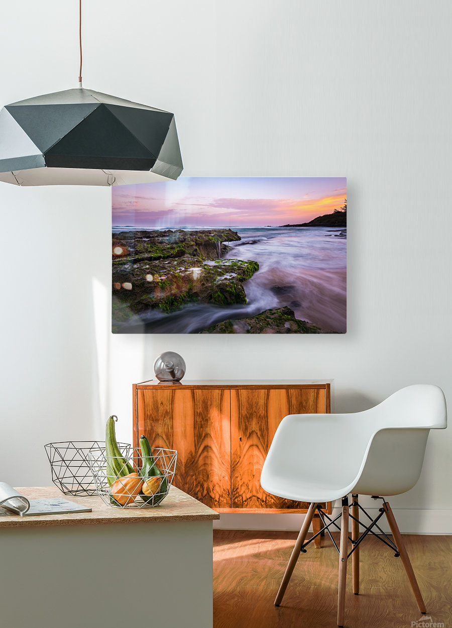 Colorful Sunrise  HD Metal print with Floating Frame on Back