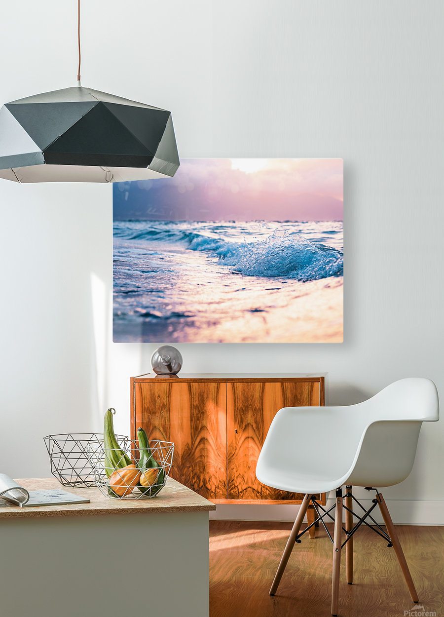 Pastel Waves  HD Metal print with Floating Frame on Back
