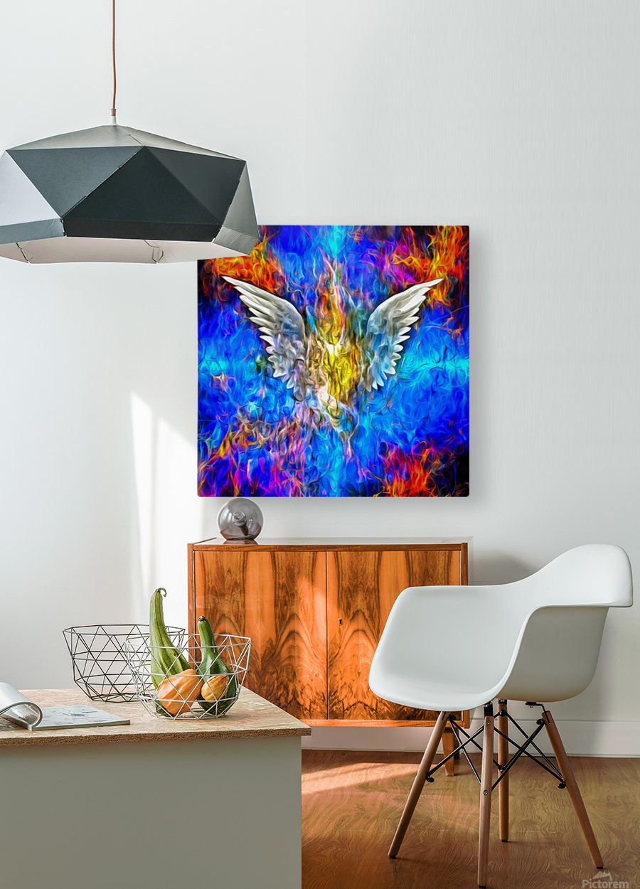 Fallen Angel  HD Metal print with Floating Frame on Back