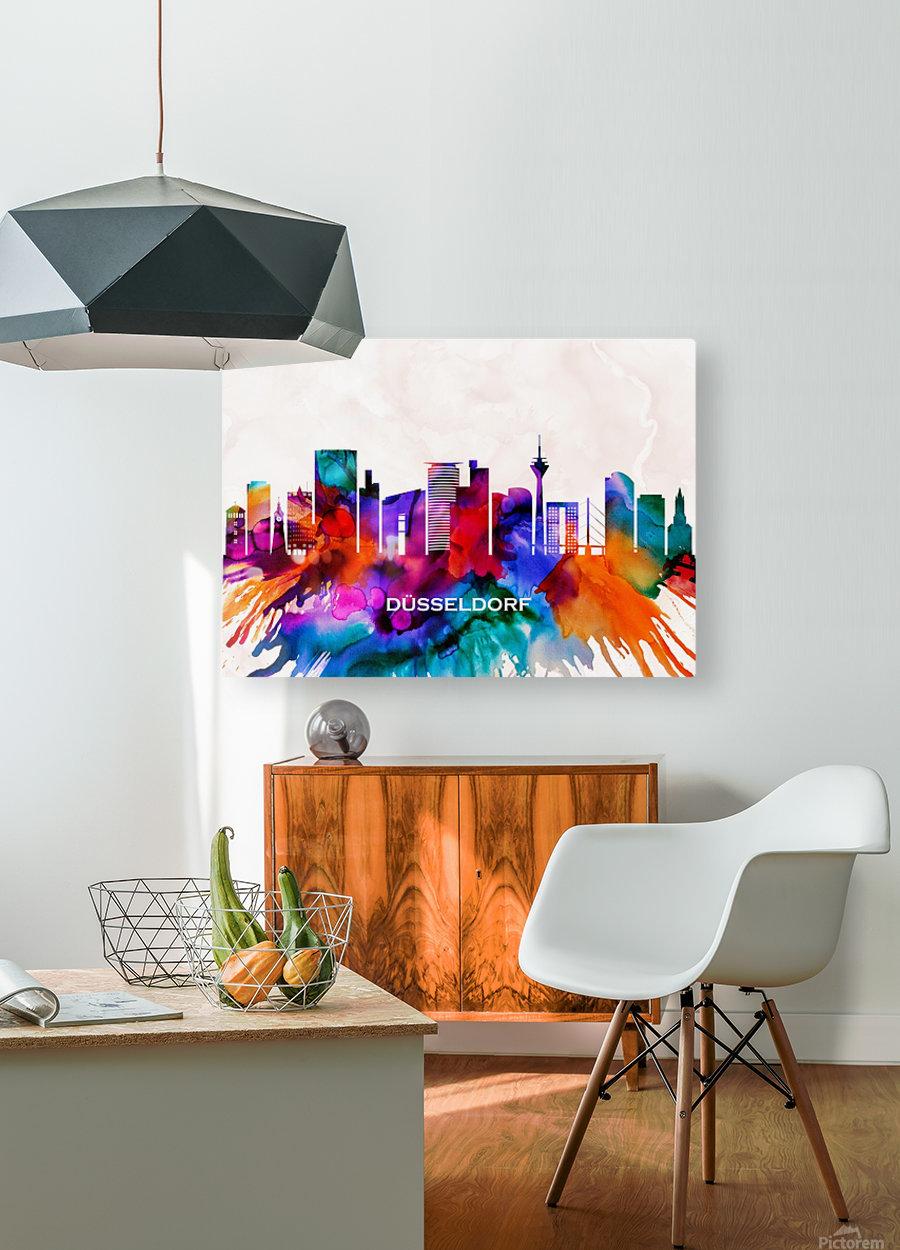 Dusseldorf Skyline  HD Metal print with Floating Frame on Back