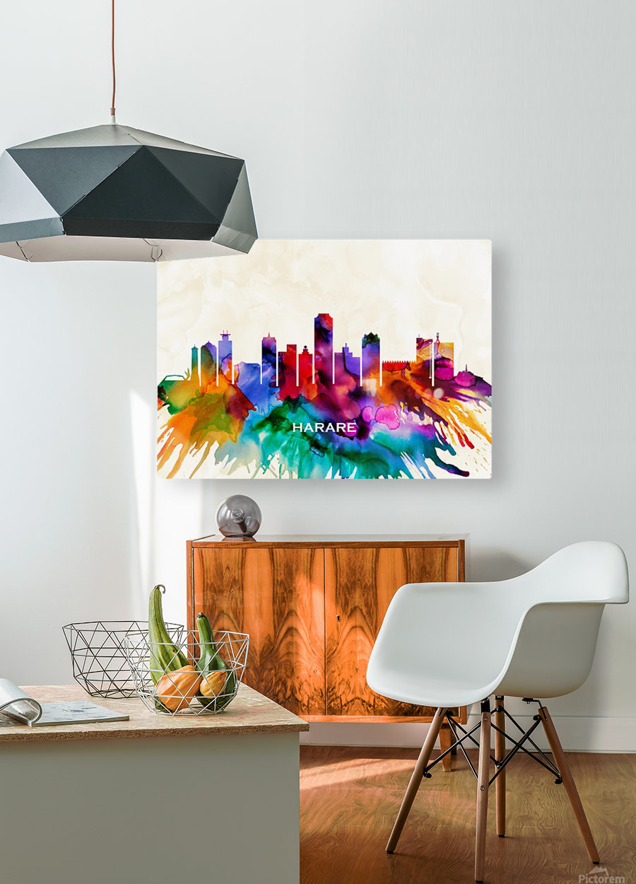 Harare Skyline  HD Metal print with Floating Frame on Back