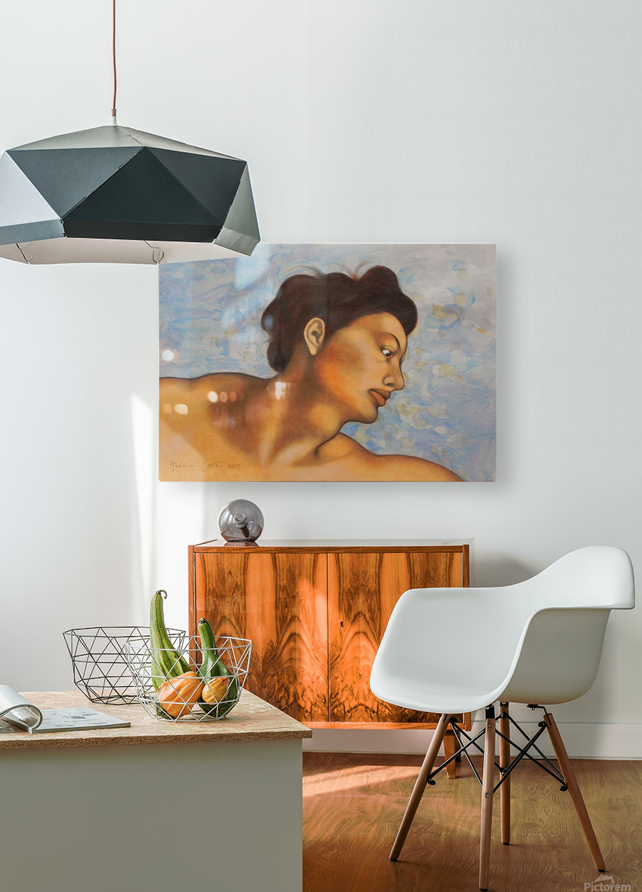 Sistine mood   HD Metal print with Floating Frame on Back