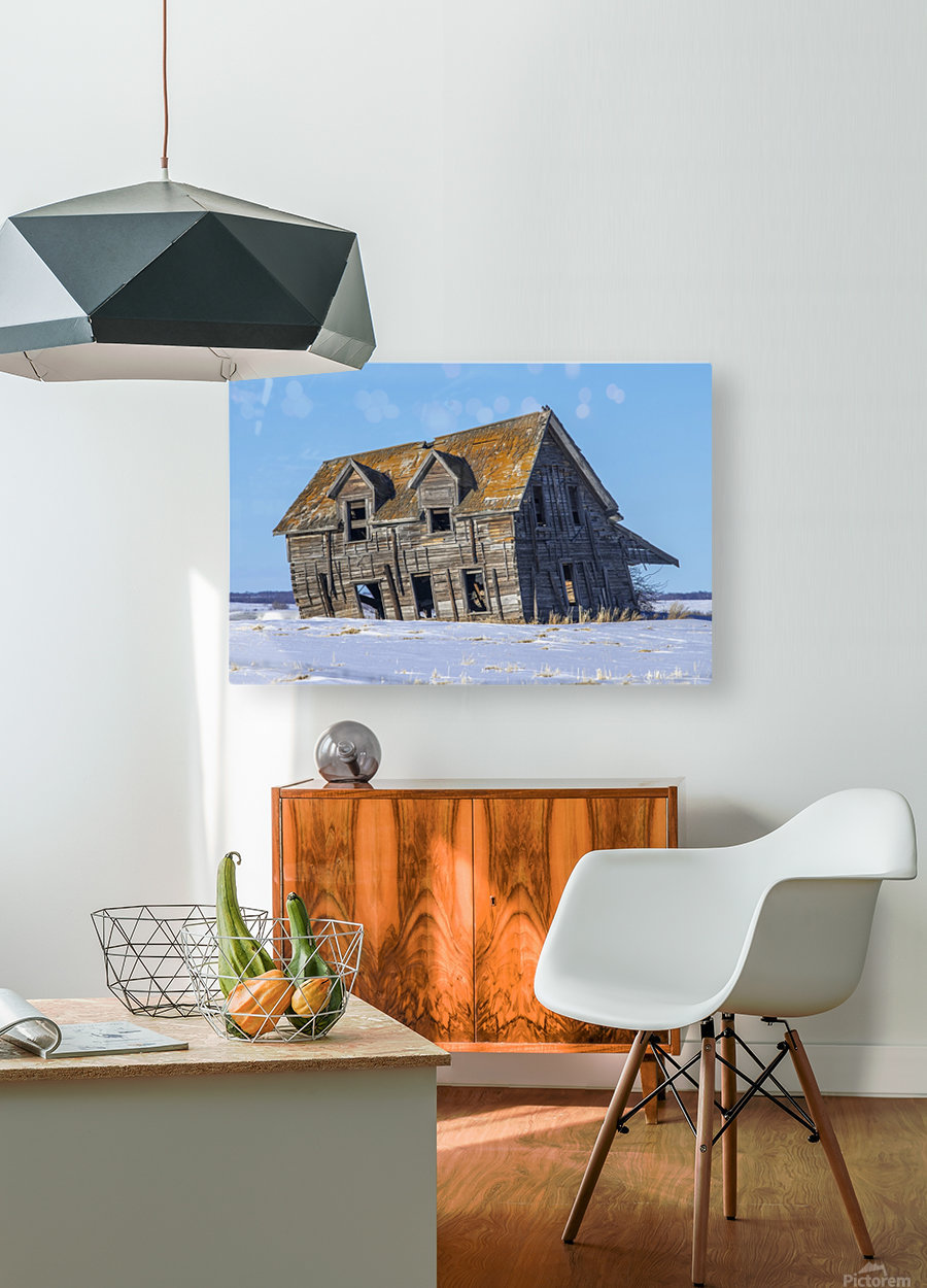 Abandoned Farm House Alberta Canada  HD Metal print with Floating Frame on Back