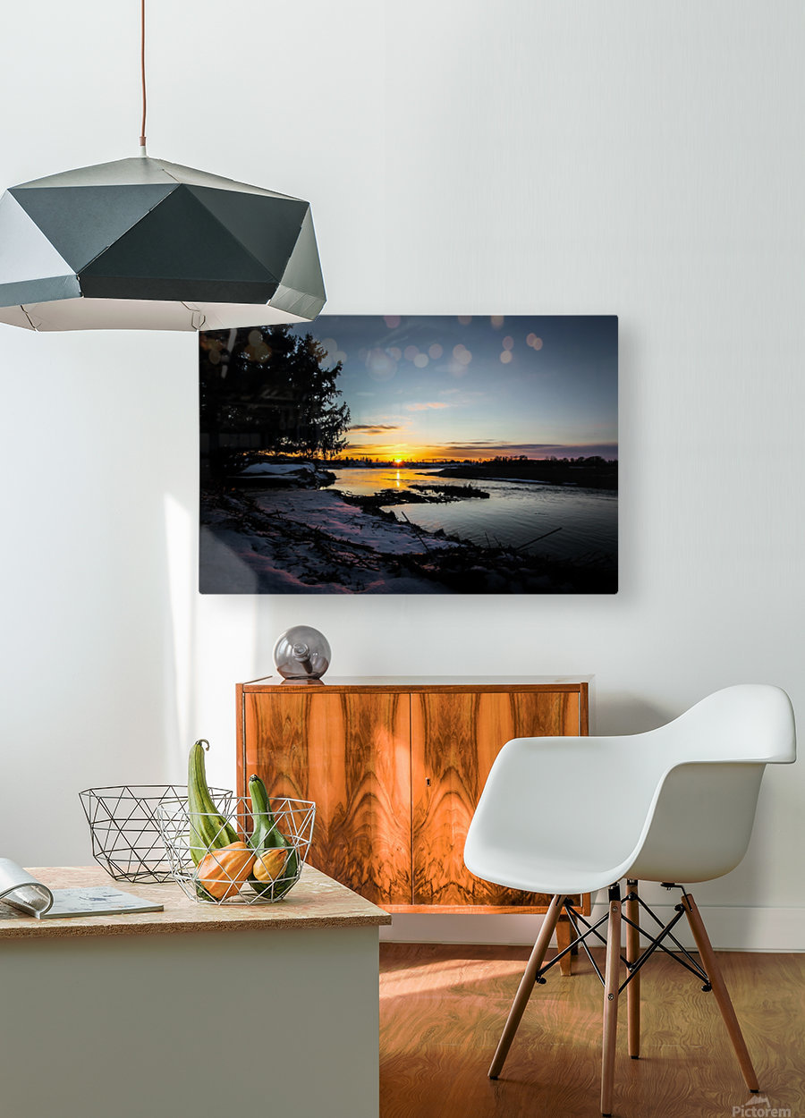 The Nith - Pre Sunset  HD Metal print with Floating Frame on Back
