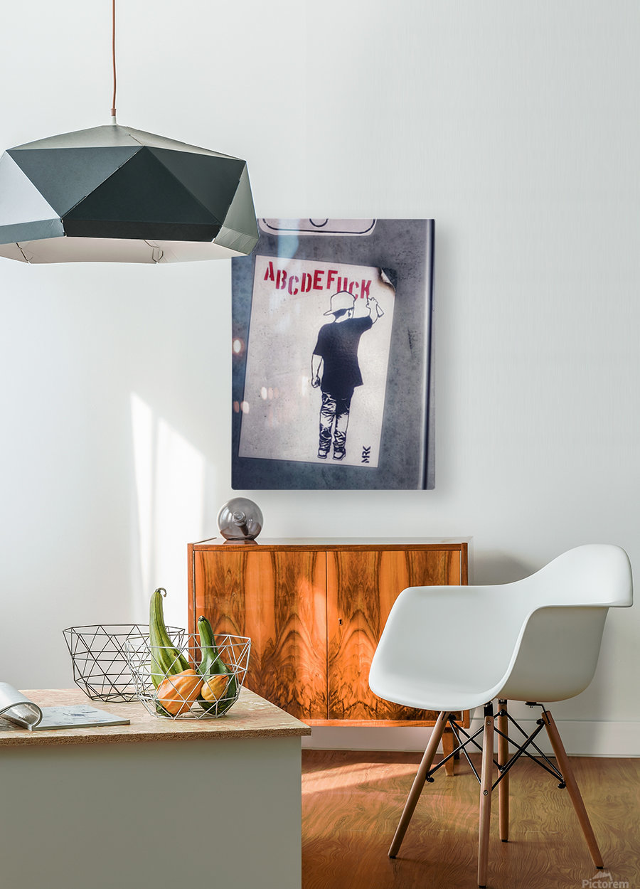 Urban English  HD Metal print with Floating Frame on Back