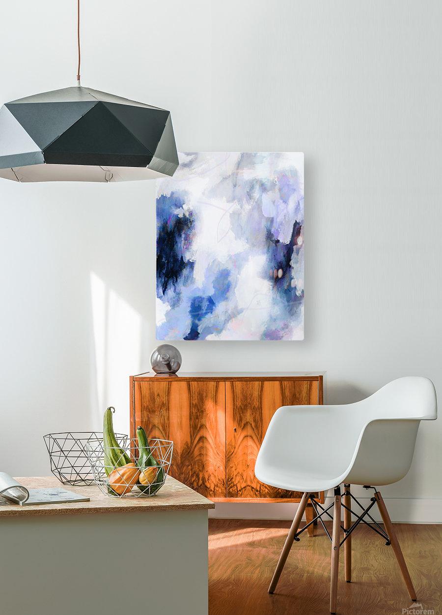 Lavender Cloud  Impression métal HD avec cadre flottant sur le dos