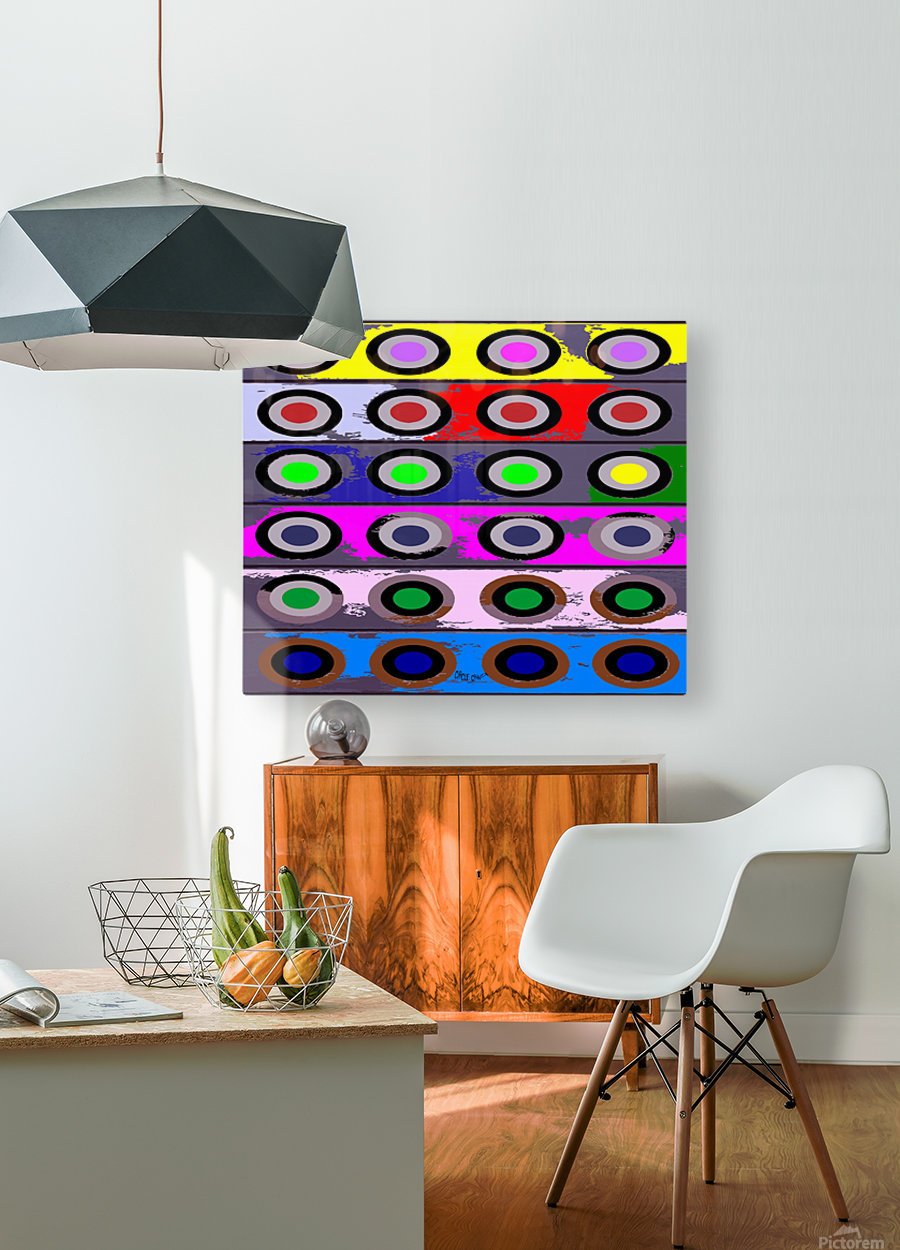 Circle Crazy by dePace  HD Metal print with Floating Frame on Back