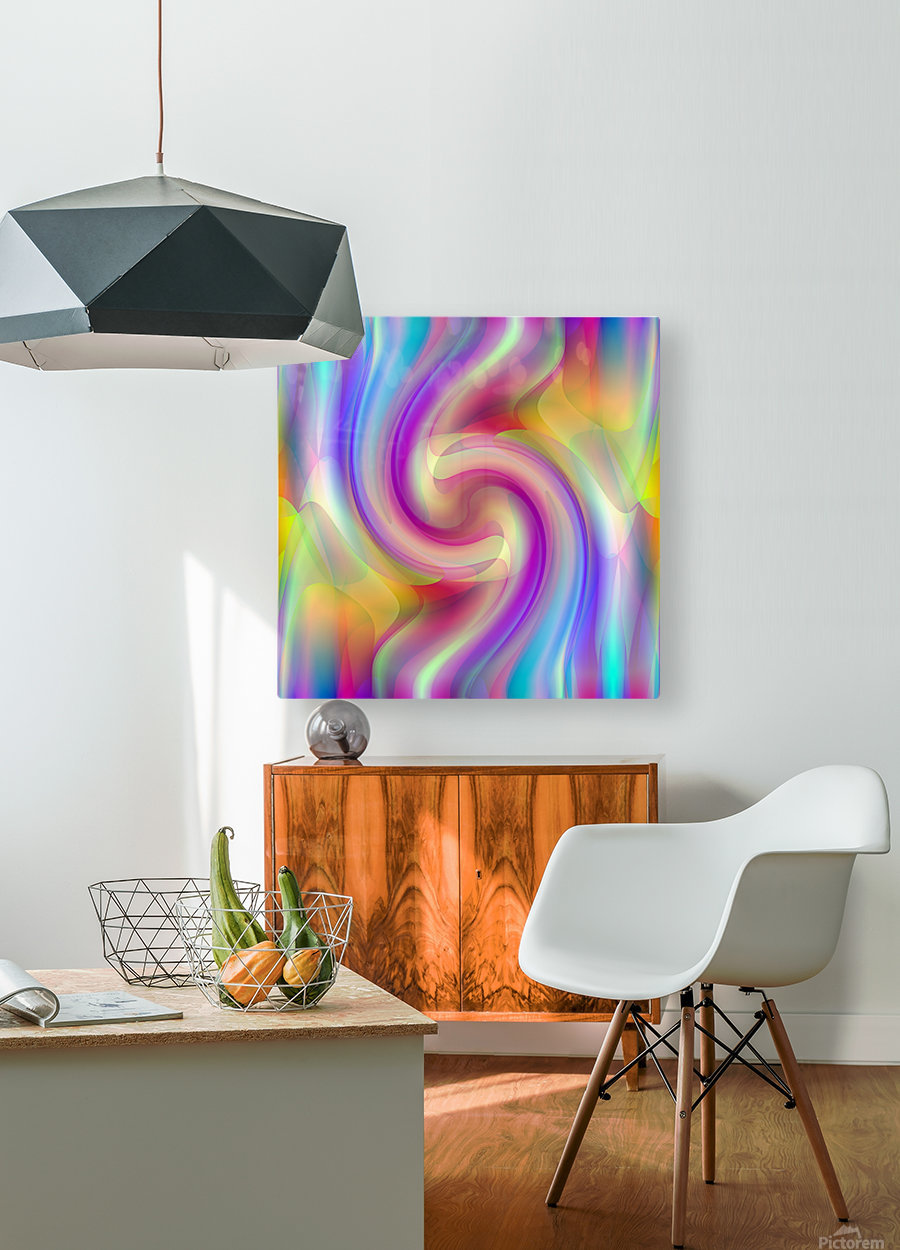 A.P.Polo - Sinusoid 3a  HD Metal print with Floating Frame on Back